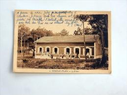 Carte Postale Ancienne : MIMIZAN PLAGE : Le Pylône, Animé - Mimizan Plage