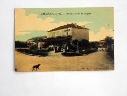 Carte Postale Ancienne Colorisée : LAUGNAC : Mairie Ecole Des Garçons, Animé - Autres Communes