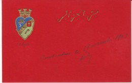Algeria Crest(?) Arabic Writing On Beautiful Art Embossed C1900s Vintage Postcard Mailed From Constantine - Constantine