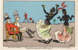 Empire du Sahara, Edouard Edward VII Visits Lebaudy, Official Dance Black Nudes c1900s Vintage Postcard