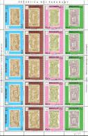 Paraguay 1990 Mi# 4445-4449 ** MNH - Se-tenant Sheet + Mini Sheet - 1992 Summer Olympics Barcelona / Stamps On Stamps - Summer 1992: Barcelona