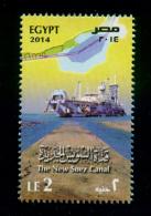 EGYPT / 2014 / THE NEW SUEZ CANAL / SHIP / MNH / VF - Nuovi