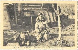 Aux Glaces Polaires - Une Femme Crise De L'Athabaska Dans Sa Cabane - Edition OE.A.M.I. - Carte Non Circulée - Amérique