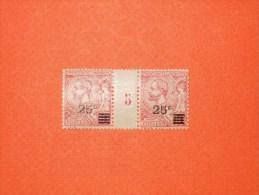 MONACO-N°52*  Surchargé 25 Centimes / 10 Centimes Albert 1er  Millésime 5.  Beau - Monaco
