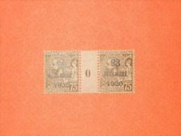 MONACO-N°49*  75 Centimes Surchargé 1920. Albert 1er Millésime 0.  TB - Unused Stamps