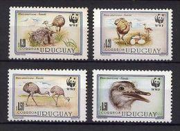 WWF BIRD OSTRICH EGGS URUGUAY Sc#1509-12 MNH STAMP - Uruguay