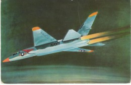 Defenders of America US Navy North American Carrier Jet Fighter A3J-1, National Biscuit Co. Card