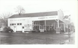 The Dalles Oregon Standard Oil Gas Staion Service Station, Auto, C1940s Image 'Taken Off Old Negatives' Photograph - Reproductions