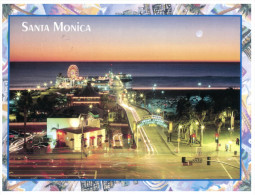 (170) USA Santa Monica (but Posted From Belize With 2 Stamp At Back Of Postcard) - United States