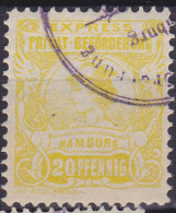 Privatpost Eilmarke Hammonia II  1888 18A Perf 11½  Yellow - Privé