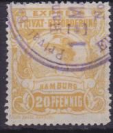 Privatpost Eilmarke Hammonia II  1888 18B Perf 14½ Orange Yellow - Privé