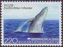 Sourth Korea 2005 57th Annual Meeting Waling Commission Ulsan Marine Mammals Sealife Sea Whale Animals Stamp MNH SC 2175 - Organizations