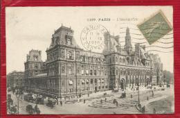 75 - PARIS  - HOTEL DE VILLE  - CPA  - 1920 - Francia