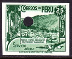 PERU 1938 Valley City 25c PROOF     [épreuve Prueba Druckprobe] - Peru