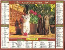 Calendrier. Almanach du facteur 2003. Essonne - Chatons et paniers. Voir scan.
