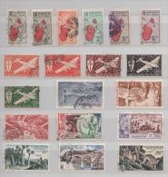 MADAGASCAR PETITE COLLECTION TIMBRES POSTE AERIENNE OBLITERES - Madagascar (1889-1960)