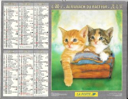 Calendrier. Almanach du facteur 2004. Essonne (91) -Chatons et oranges.