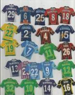 MAGNET , SPORT , FOOTBALL , Maillot équipe De Clubs Français Et équipe De France , LOT DE 22 MAGNETS - Sports