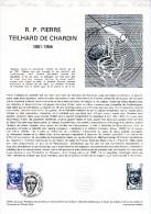 """★  FRANCE 1981 : Document Philatélique Officiel N° 19-81 """" PIERRE TEILHARD DE CHARDIN """". N° YT 2152. Parfait état - Préhistoire"""