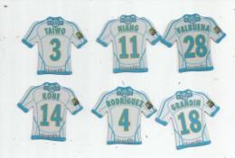 MAGNET , SPORT , FOOTBALL , Maillot équipe De MARSEILLE , Just Foot , 2009 , LOT DE 6 MAGNETS - Sports