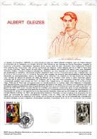 """★  1981 : Document Philatélique Officiel N° 05-81 """"ALBERT GLEIZE """". N° YT 2137. Parfait état. DPO - Documents Of Postal Services"""
