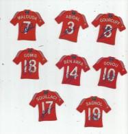 MAGNET , SPORT , FOOTBALL , Maillot équipe De FRANCE , Dédicacées , LOT DE 8 MAGNETS - Sports