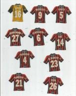 MAGNET , SPORT , FOOTBALL , Maillot équipe De NICE , Just Foot , 2009 , LOT DE 10 MAGNETS - Sports