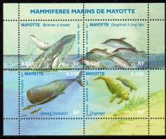 Mayotte - 173/76 ** Mammifères Marins (baleines, Dauphins) - Unused Stamps