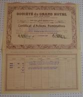 Sté Du Grand Hotel - Tourisme