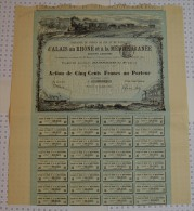 Chemin De Fer Et De Navigation D'Alais Au Rhone Et à La Méditérrannée, Illustrée Par Baude - Chemin De Fer & Tramway