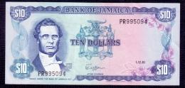 Jamaica 10 Dollars 1981 XF-aUNC - Jamaica