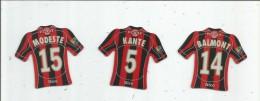 MAGNET , SPORT , FOOTBALL , Maillot équipe De NICE , Just Foot , 2008 , LOT DE 3 MAGNETS - Sport
