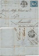 FRANCE  14A (o) Lettre De Voiture Châlons-sur Marne Maison Aubertin Champagne 18 Avril 1961 - 1849-1876: Période Classique