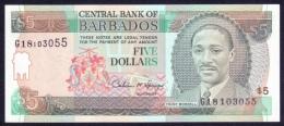 Barbados 5 Dollars 1996 P.47 UNC - Barbados