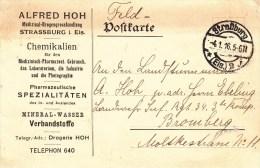 Feldpostkarte Obl Straßburg * (Els.) 2 J Du 4.1.16 Adressée à Bromberg - Marcofilia (sobres)