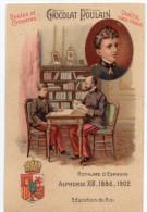 Chocolat POULAIN -  Souverains Et Chefs D´Etat -  Chromo Gaufré -  Alphonse XIII -  Espagne - Poulain