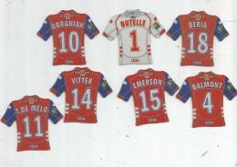 MAGNET , SPORT , FOOTBALL , Maillot équipe De LILLE , Just Foot , 2009 , LOT DE 7 MAGNETS - Sport