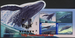"""50% DISCOUNT WWF - AUSTRALIA - 2006 - Miniature Sheet : APTA SYDNEY Gold Overprint  - 250 Sets Iss... - W.W.F."