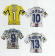 MAGNET , SPORT , FOOTBALL , Maillot équipe De LYON , Just Foot , 2010 , LOT DE 4 MAGNETS - Sport