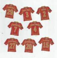 MAGNET , SPORT , FOOTBALL , Maillot équipe Du MANS , Just Foot , 2009 , LOT DE 8 MAGNETS - Sports
