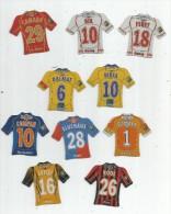 MAGNET , SPORT , FOOTBALL , Maillot équipe De Clubs Français  , LOT DE 10 MAGNETS - Sports