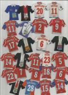 MAGNET , SPORT , FOOTBALL , Maillot équipe De Clubs Français , Entraineurs   , LOT DE 26 MAGNETS - Sport