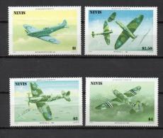 NEVIS  N° 361à364 VARIETE SANS TEINTE DE FOND  NEUFS SANS CHARNIERE COTE  ? €   AVION - St.Kitts Y Nevis ( 1983-...)