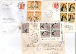 TRE RACCOMANDATE CON BELLE QUARTINE   06 - 6. 1946-.. Repubblica