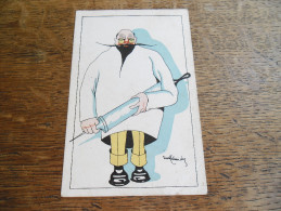 CPA Caricature Médecin Ou Docteur Avec Une énorme Seringue, Illustrateur à Identifier Voir Signature - Other Illustrators
