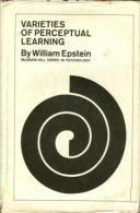 Varieties Of Perceptual Learning By William Epstein - Educación