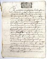 TESTAMENT DU NOBLE EYMERIEY DUBOIS SIEUR DUFFRENNE 1718  -  MANUSCRIT 8 PAGES  CASTELNAU SUR GUPIE - Manuscripten
