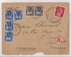 Devant De Lettre D'Allemagne Vers St Ouen - 1944 - Taxé à 4,20 Frs - Postage Due