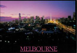 MELBOURNE    SKYLINE  AT  SUNSET       11,5X17      (VIAGGIATA) - Melbourne