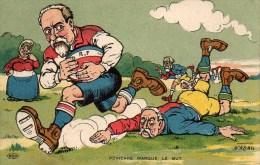 Politique Illustrateur NADAL Poincarr� marque le But